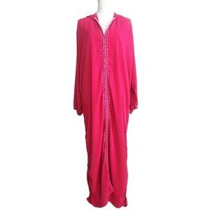 Authentic Moroccan Handmade Kaftan Gown Kimono OS